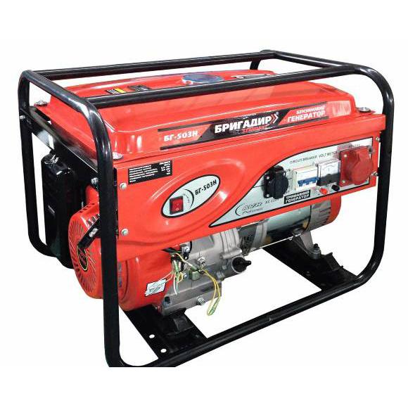 Бензиновый генератор Бригадир Standart 603E