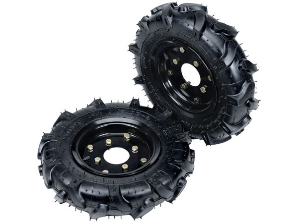 Большие пневматические колеса в комплектации