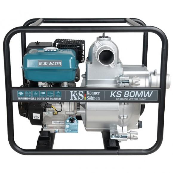 Мотопомпа для сильнозагрязненной воды Konner&Sohnen KS 80MW